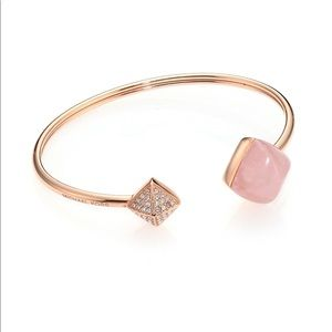 Michael Kors Rose Gold-Tone Rose Quartz Cuff